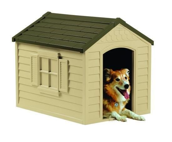 Large #Durable #Dog #House All Weather #Outdoor #Portable Plastic #Pet Kennel #Shelter