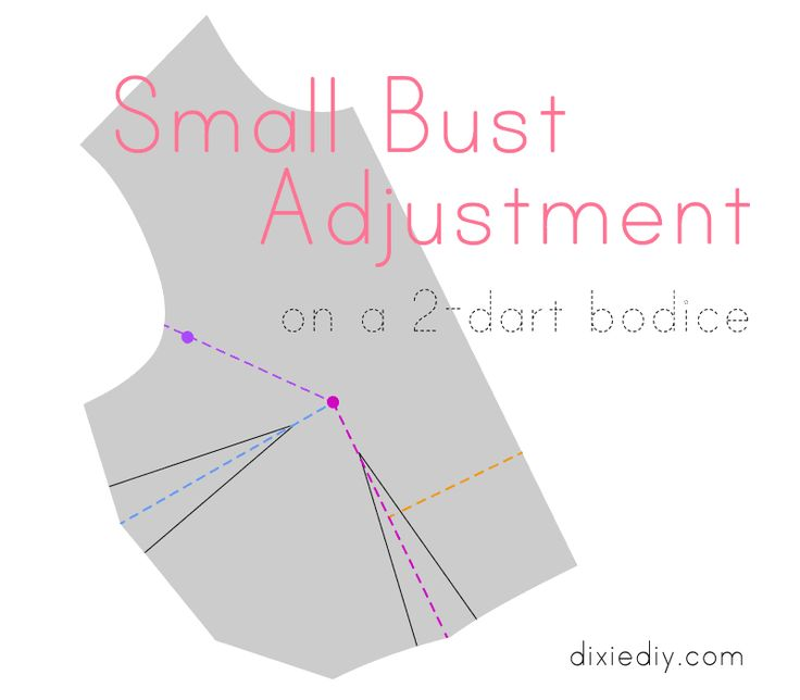 Small Bust Adjustment on a 2-Dart Bodice Tutorial | Dixie DIY