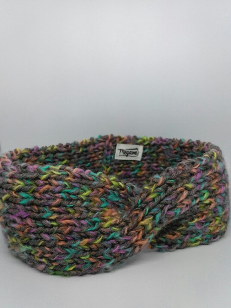 Twist Headband - Details Pattern • Mix Color • Knitting Project with Cable Stitch