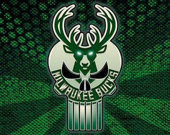 827d09eb1 Milwaukee Bucks Meets Punisher