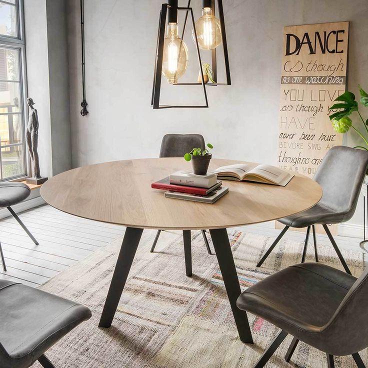 Die besten 25+ Esszimmertisch rund Ideen auf Pinterest - moderne massivholz esszimmermobel