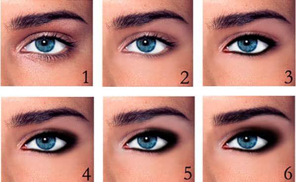 Как сделать дымчатый макияж глаз пошагово фотоуроки