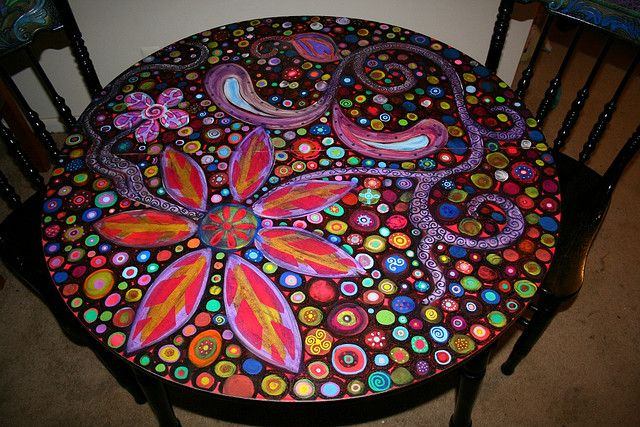Funky Hand-Painted Furniture | Recent Photos The Commons Getty Collection Galleries World Map App ...