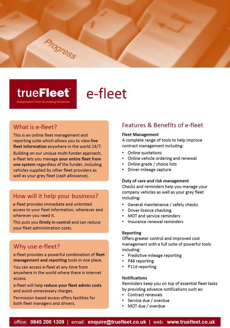 trueFleet™ - e-fleet Fleet Management Software www.truefleet.co.uk