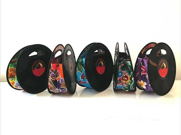 Vinylbags von Wilten Design -  das ist doch das richtige Design für Schallplattenfreundinnen - zu sehen auf der klangBilder|16