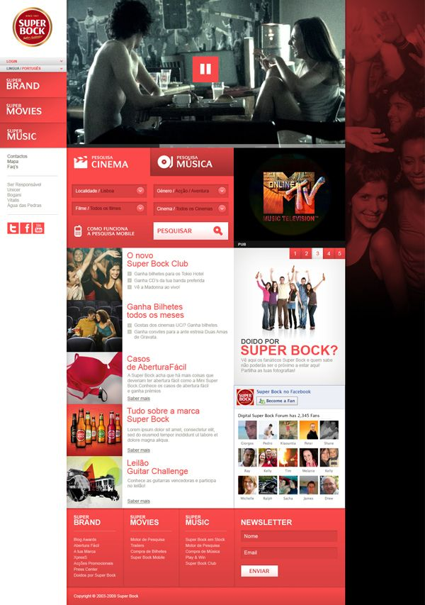 Super Bock ( 2009 ) by José Carlos Costa, via Behance