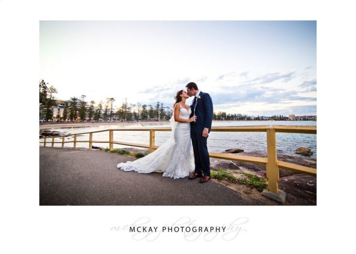 Aislinn & Hamish wedding photo at Manly Point just on sunset
