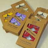 Add scent and colour with these organic tealights