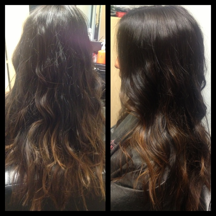 dark espresso to caramel brown ombre my work hair