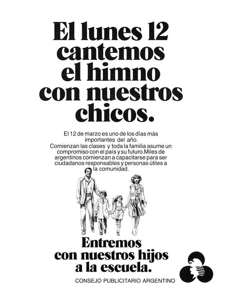 """""""Entremos con nuestros hijos a la escuela""""-1984"""