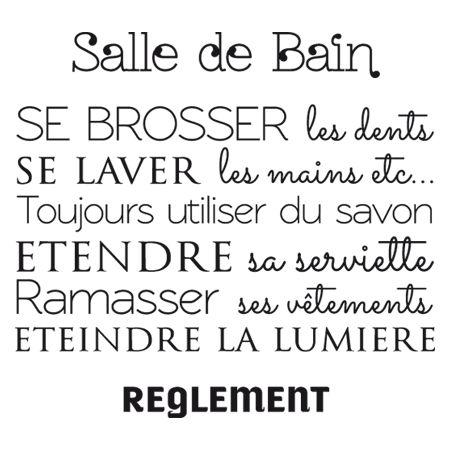 http://www.stickersmalin.com Stickers - Ganumaï - Stickers Règlement Salle de…