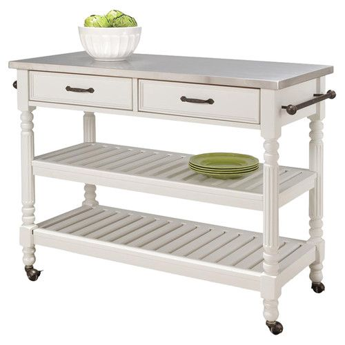 Buy Home Styles Savannah Kitchen Cart In White From At Bed Bath Beyond Antique Inspired Design Meets Modern Practicality With The Home Styles Savannah
