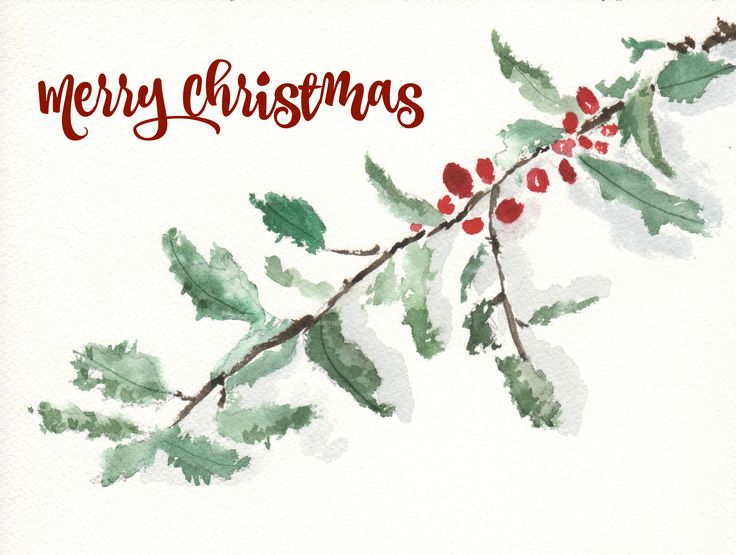Happy Monday! We have 19 fabulous free printables to bring Christmas cheer. I've created a holly watercolor free printable as gift tags and image for you.