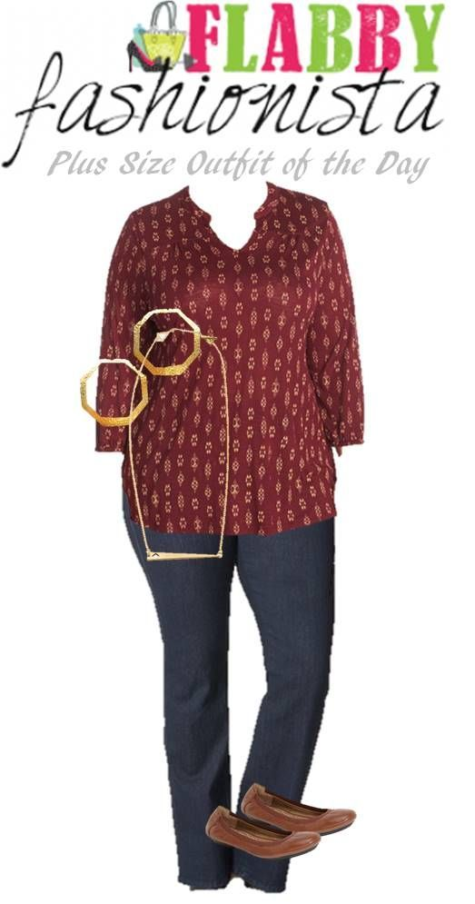Plus Size Outfit of the Day – Ikat Blouse