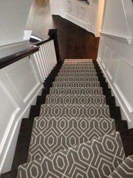 Geometric Stair Runner modern