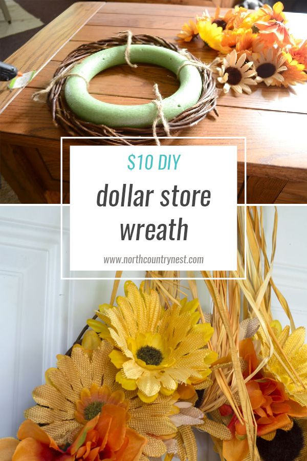Five Step Diy Dollar Store Fall Wreath Dollar Stores