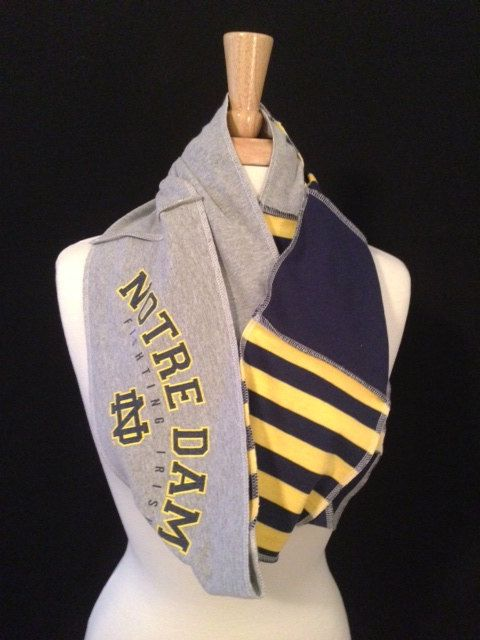 Notre Dame Infinity Scarf by poshCreationsCincy on Etsy