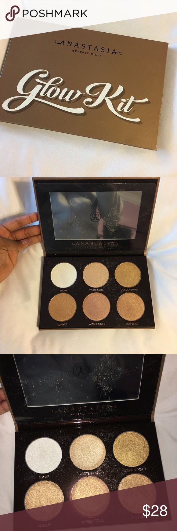 ABH ultimate glow kit ABH glow kit gently used twice still in excellent condition. Authentic purchased from ABH online. Anastasia Beverly Hills Makeup Luminizer