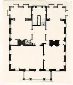 Miles Brewton House, Charleston, South Carolina, 1765-1769 - 2nd floor plan