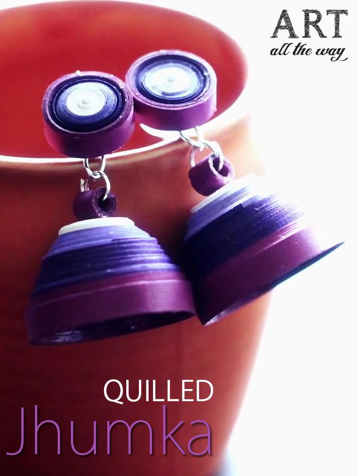 Quilled Jhumka : https://goo.gl/aidWTU