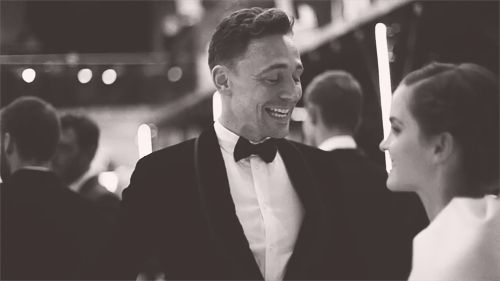 (gifset x 3) so cute! Tom and Emma chatting at GQ Awards. If he ever looked at me like that.........