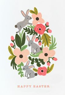 easter, easter card, happy easter, spring, bunny, bunnies, rabbit, flowers