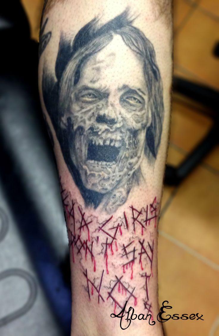 Portrait Tatouage Tattoo The Walking Dead - Alban Essex