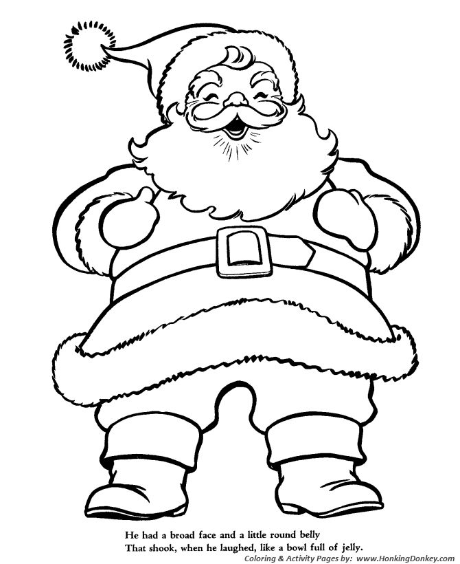 Twas Night Before Christmas Story Coloring Sheets For Toddlers ...