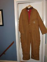 Carhartt Cold Weather Insulated Coveralls Jumpsuit Work Suit Mens Size 50 Short