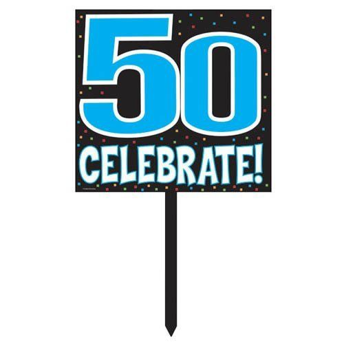 Creative Converting Plastic Celebrate, 14 Inches, 50 Yard Sign by Creative Converting. Save 19 Off!. $5.70. Party Sign is 14-Inches square. Celebrate 50 with this bright sign. You'll find consistent high quality and attention to detail in every Creative Converting product. Easy installation and removal. Plastic Yard Sign sets the mood and tells everyone where they'll find the fun. It's always a happy birthday with party preparations from Creative Converting. There's something for ...