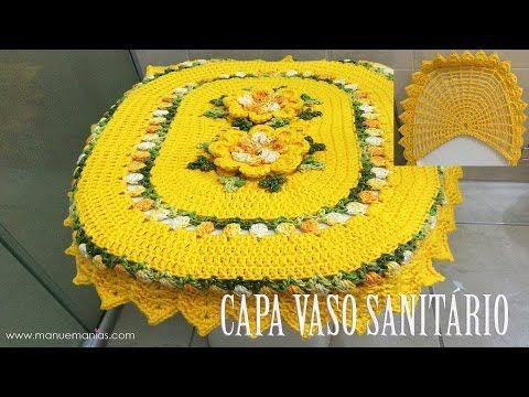 "Capa Vaso Sanitário - JOGO DE BANHEIRO PRIMAVERA ""Neila Dalla Costa"" - YouTube"