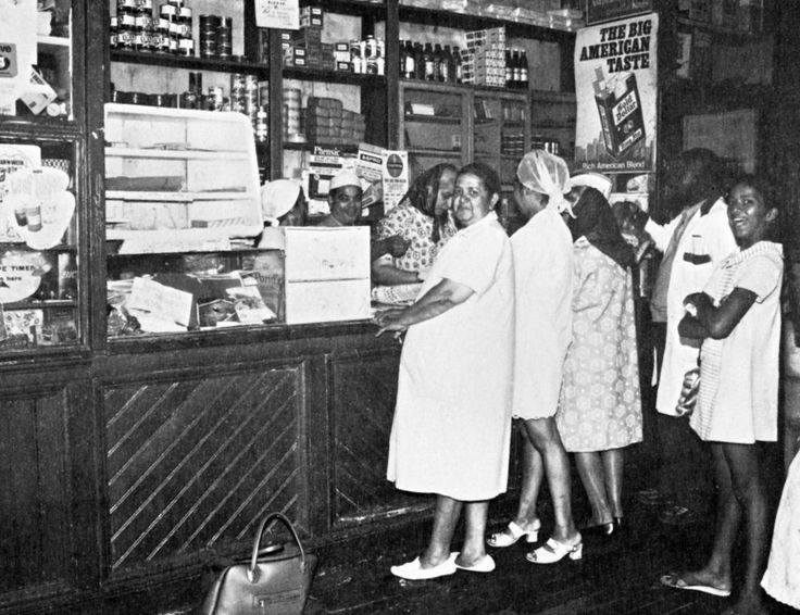 Old time Grocery shop 1950s. | Before the arrival of supermarkets every neighbourhood in town had its grocery shops like this one in District six.