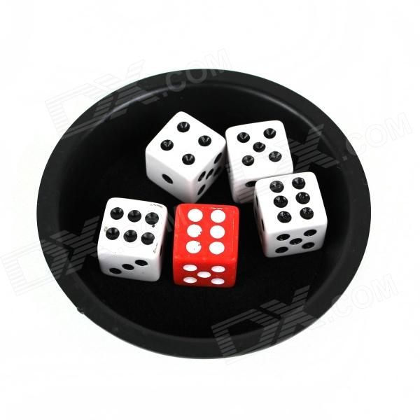 The magician took out four dice, take one in your hand, then take an inside a box, How the hand not at, run the box, the box into two dice. http://j.mp/1BtG8YW