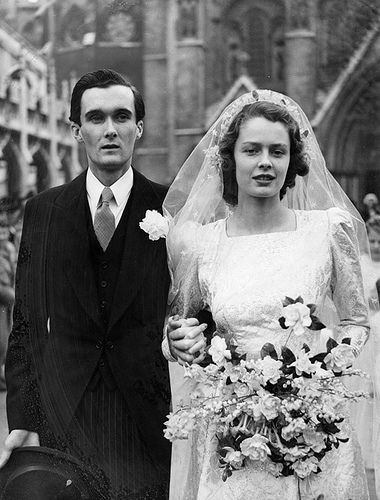 Bride and groom, 1940s, London