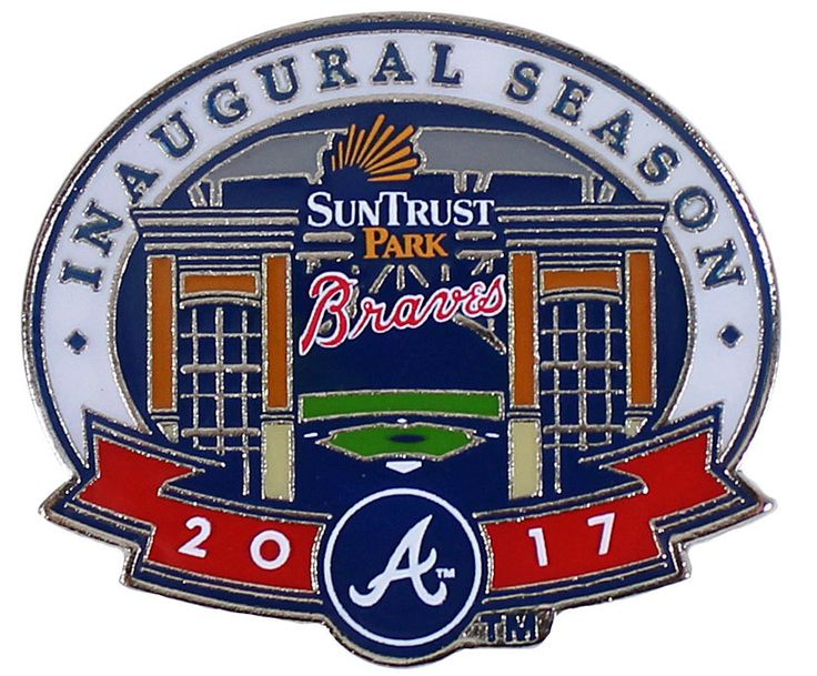 Classic Pins - Atlanta Braves Suntrust Park 2017 Inaugural Season Pin - Limited 1,000, $9.95 (https://www.classicpins.com/atlanta-braves-suntrust-park-2017-inaugural-season-pin-limited-1-000/)
