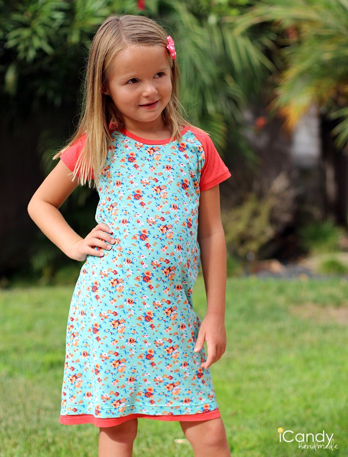 Everyday Raglan Dress - iCandy handmade Made this dress for my almost six year old niece and it worked out marvelously.
