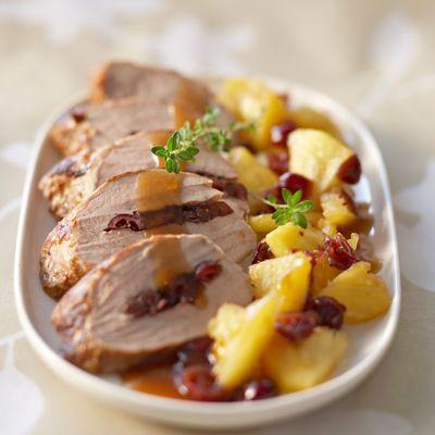 Découvrez la recette du médaillon de porc aux fruits