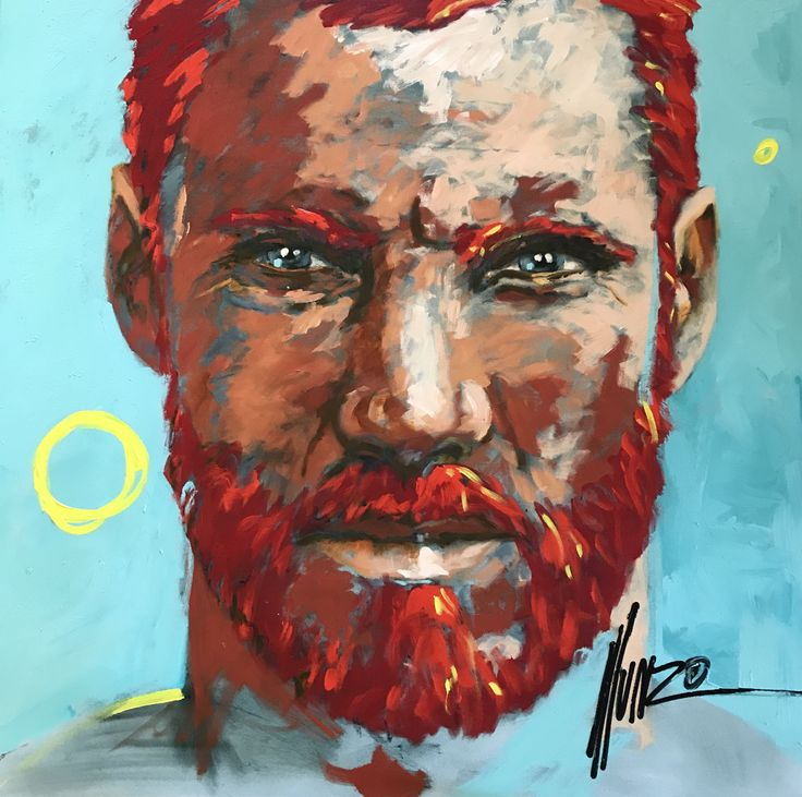 "M12405 ""unquenchable fire"" #artbymunro #face2face #bemenofcourage #teal #fire #beardman"