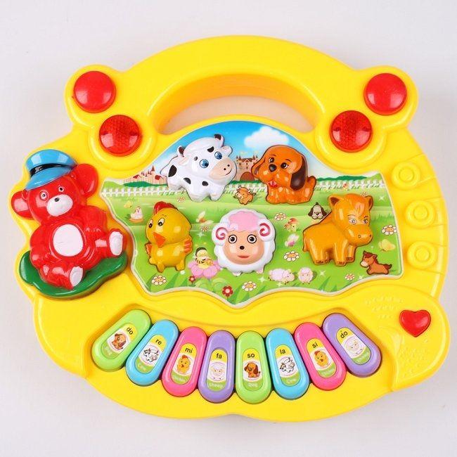 ANIMAL FARM PIANO KUNING - http://grosirmainananakku.com/animal-farm-piano-kuning/ Animal Piano mengeluarkan aneka musik ceria, aneka suara binatang dan ada 8 tangga nada dasar. Sangat cocok untuk anak balita.  #ANIMALFARMPIANO