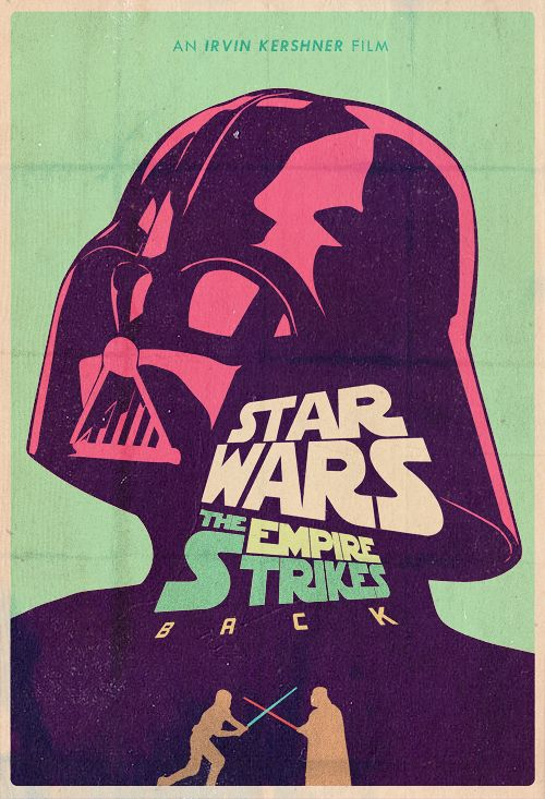 Star Wars: Episode V - The Empire Strikes Back Poster #starwars #darthvader
