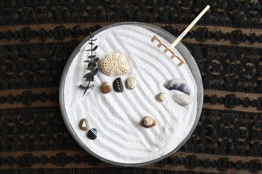 You can even try and create your very own calming space. | 26 Zen Gardens To Help You Find Inner Peace At Work