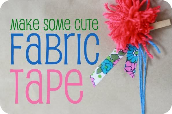 My Poppet – How To: Handmade Fabric Deco Tape  cute and inexpensive way to dress up packages
