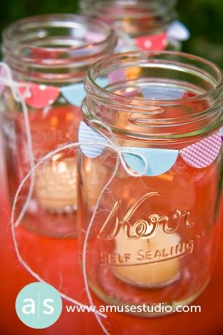 love the bunting around the jars