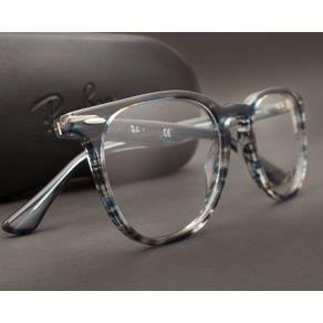 O Óculos de Grau MAsculino e Feminino Ray Ban RX7159 5750-52 é para quem  quer inovar mas sem largar o básico. Modelo quadrado feito em acetato azul e a6bf015f64