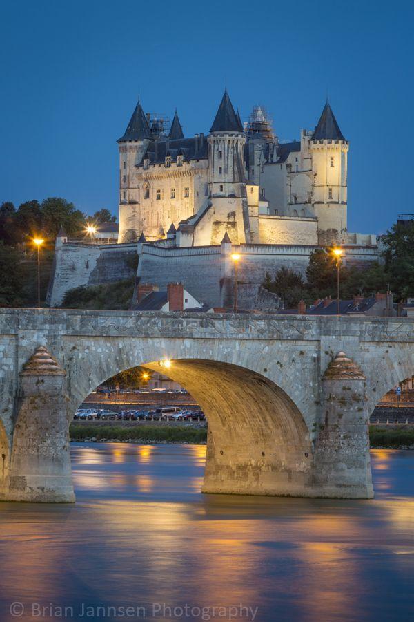 France Travel Inspiration - Chateau Saumur (12th century), Maine-et-Loire, France. © Brian Jannsen Photography