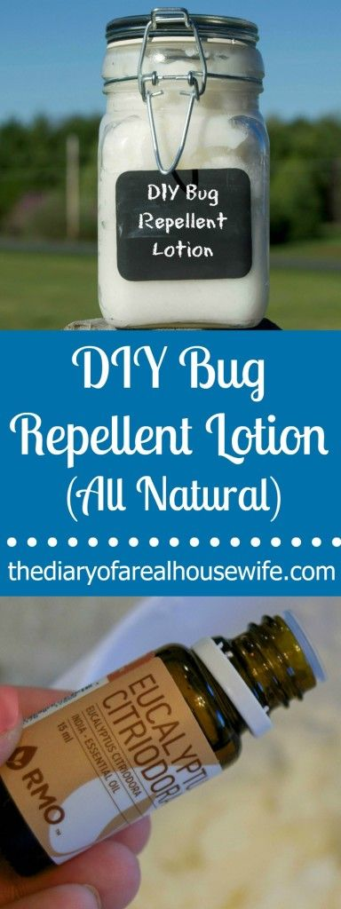 All Natural DIY Bug Repellent Lotion. Skip all those chemicals this summer and just make your own.