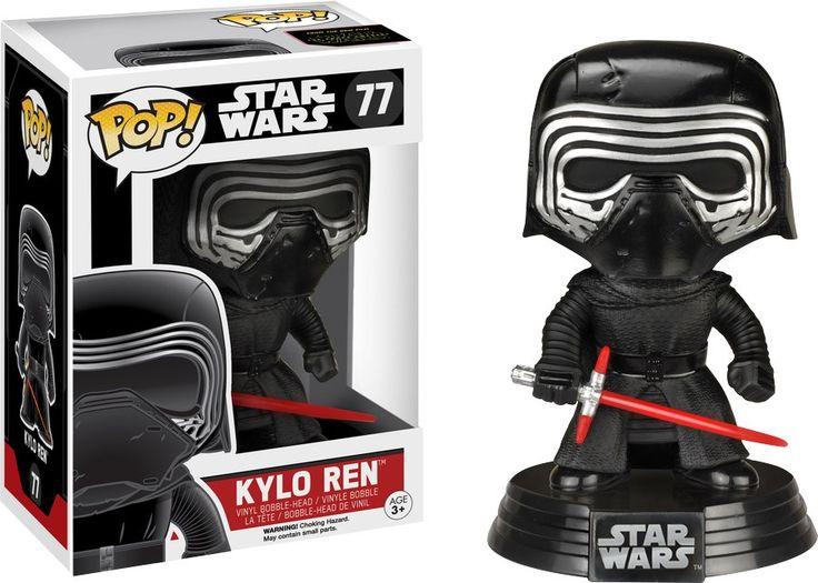Pop! Vinyl - Star Wars - Kylo Ren (No Hood) Episode 7 The Force Awakens #77