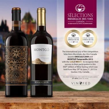 Two GOLD MEDALS in Sélections Mondiales des Vins - Canada   News & Events   Hammeken Cellars