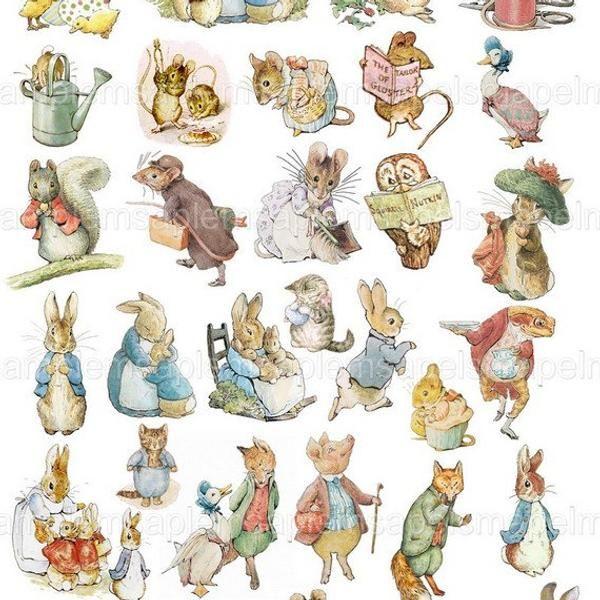 32 Peter Rabbit And Friends Clip Art Transparent Png Files Instant Download Beatrix Potter Transparent Art Images Digital Collage Sheet Peter Rabbit Illustration Peter Rabbit And Friends Beatrix Potter Illustrations