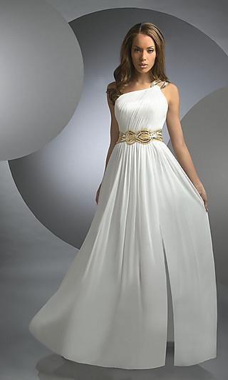 Греческое платье свадебное через плечо
